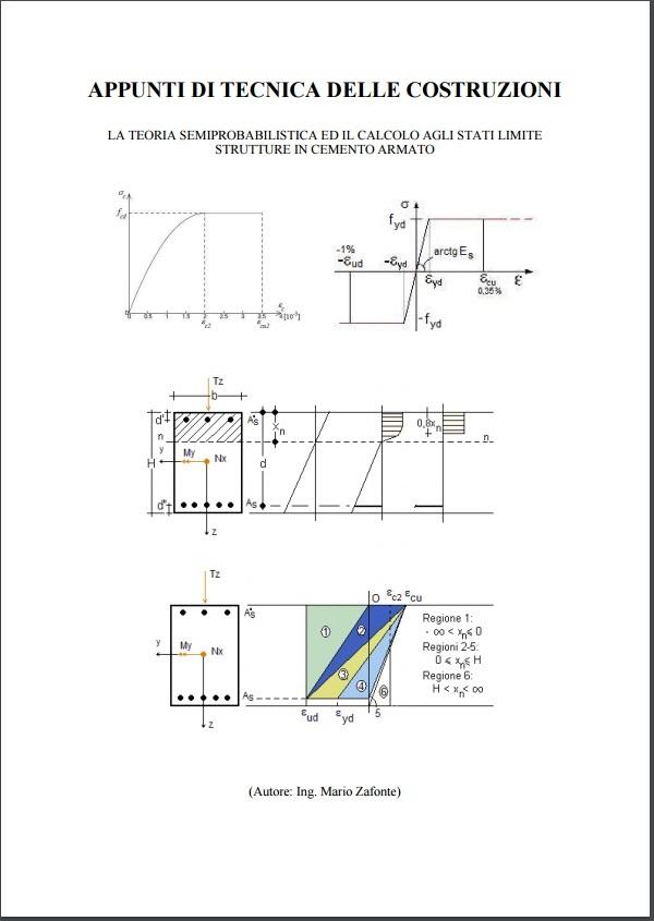 Verifica Stato Limite Ultimo.Appunti Di Tecnica Delle Costruzioni Stati Limite C A